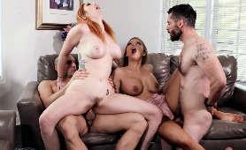 Porno swingersów - Britney Amber, Lauren Phillips, Fryzura Na Cipce