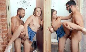 Filmy porno bliźniaczek pieprzonych na stojąco - Joey White, Sami White, Na Stojąco