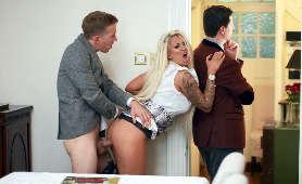 Ostre porno cycatej blondynki Brooklyn Blue, która chce tylko dobrego, twardego kutasa - Brooklyn Blue, Sex Pary
