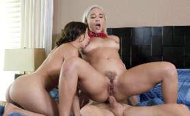 Erotyczne filmy z lesbijkami i facetem - Abella Danger, Alexis Fawx, 2 Kobiety 1 Meżczyzna