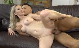 Sex blondynki z partnerem na łyżeczkę - Alexa Si, Ostry Sex