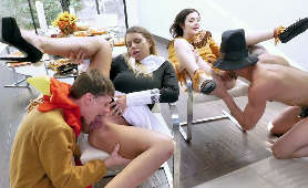 Sex filmiki z grupowym lizaniem cipek - Brooklyn Chase, Rosalyn Sphinx, Sex Grupowy