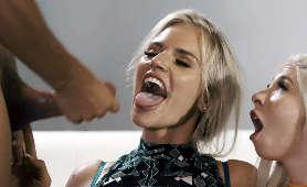 Dwie blondynki dostają wytrysk nasienia na twarz - Kenzie Reeves, Rachel Cavalli, Sex Hd