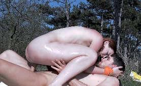 Dobry sex z rudą w plenerze - Charlie Red, Kristof Cale, Pieprzenie Cipki