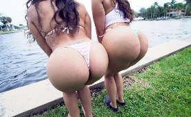 Wielkie tyłki w bikini - Lilly Hall, Carmela Clutch, Brunetki